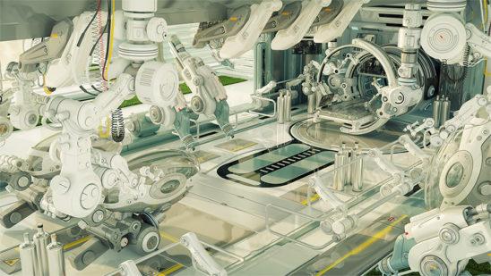 Futuristic room in hospital for diagnostic purposes