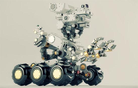 Smart multi-functional robot on wheels