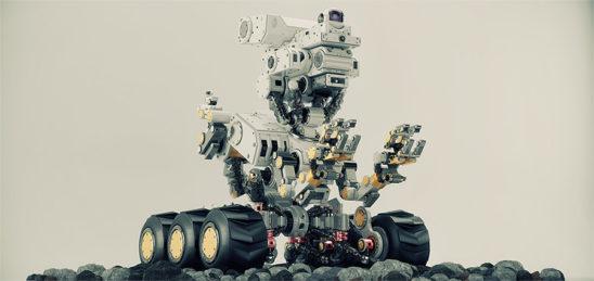 radio controlled bot on stones