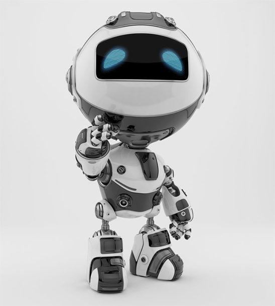 Unusual robotic bee in white color