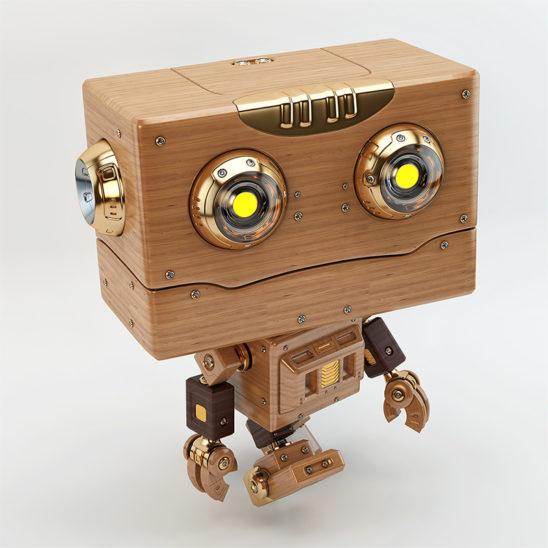 walking robot wooden