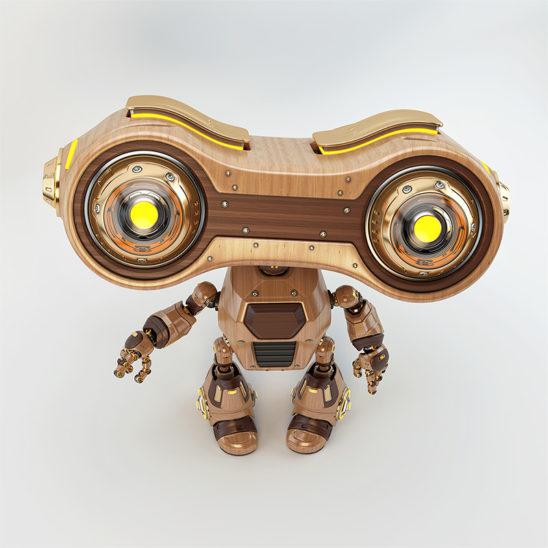 binocular robot upper angle