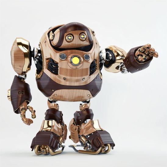 retro robot daddy