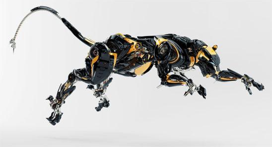 robot panther jumping