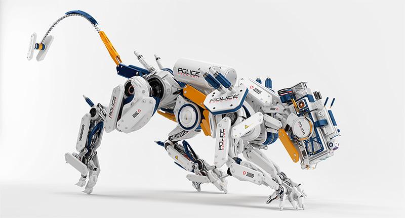 robot dog police