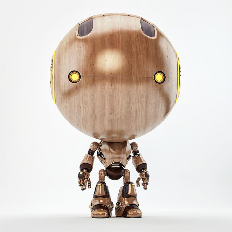 Retro wooden child