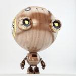 wood toy robot