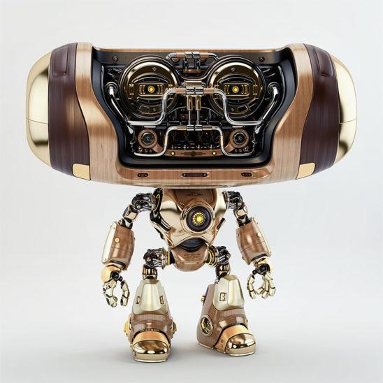 robot wooden hero
