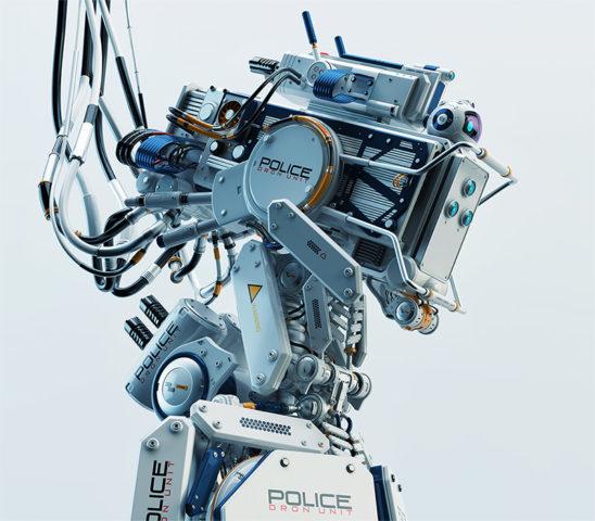 Robot policeman