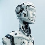 cyborg robot handsome man