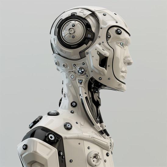 robot in profile cyborg