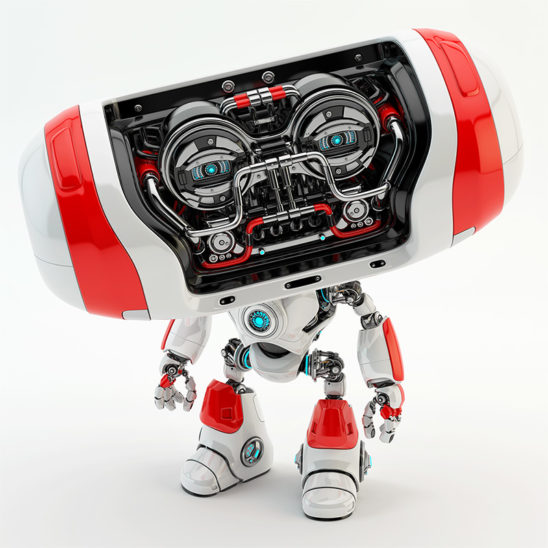 red cheburashka robot