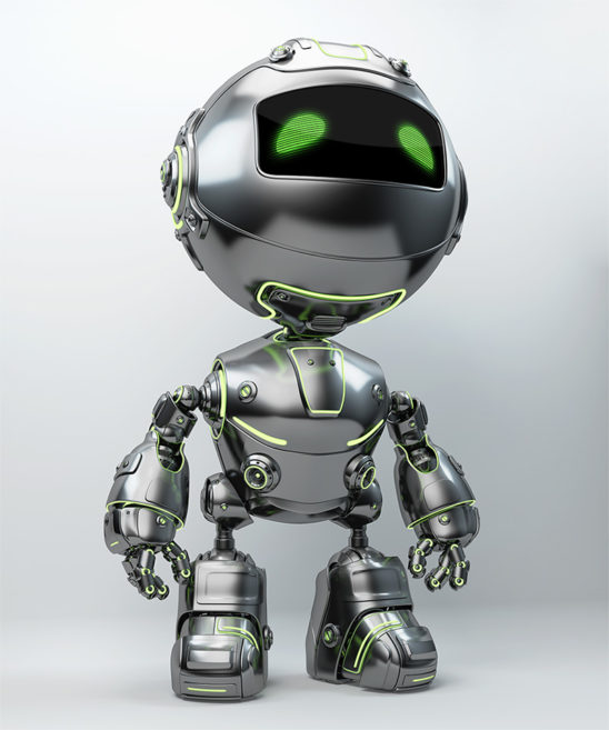 cute steel bot robot