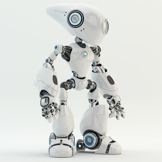 robot with long head