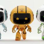 three walking robots, eco, engineeer and medic