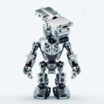 assistant bot robot silver video surveillance