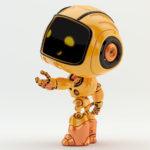 Gesturing robotic engineer, side render