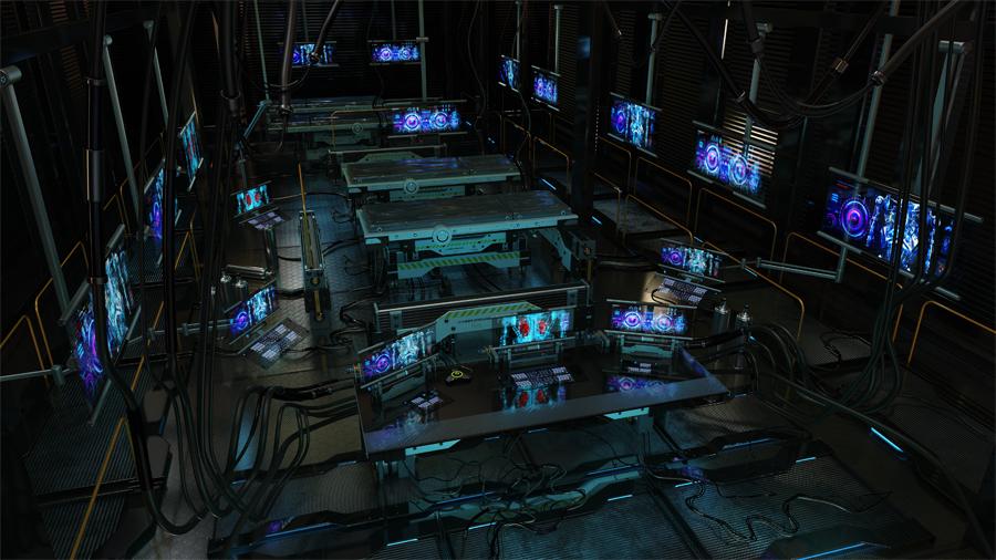 dark lab for cyber organs testing