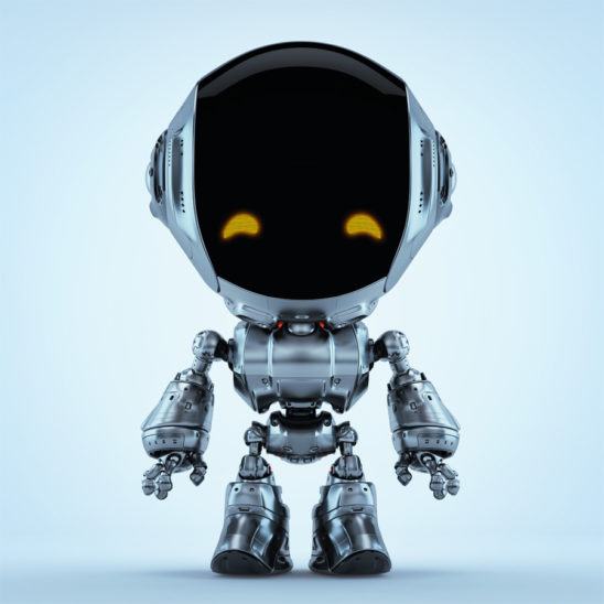 Fun bot robot silver colored toy