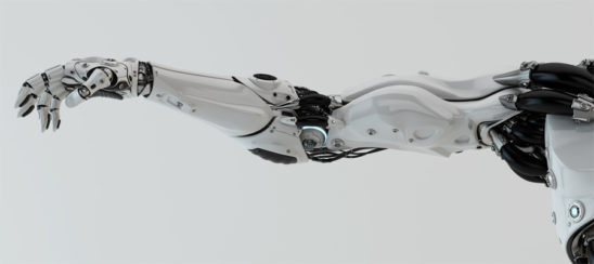 strong and elegant robotic arm