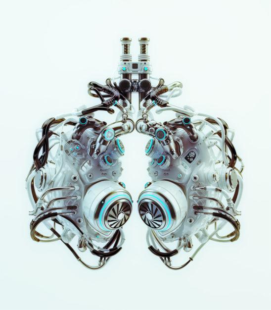 stylish robotic lungs