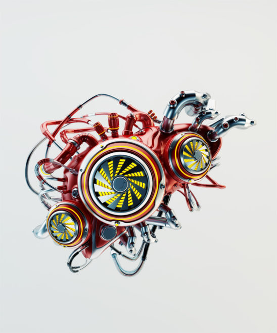 Red robotic liver