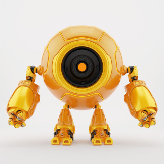 Circleodion - cute robot with big round body-head