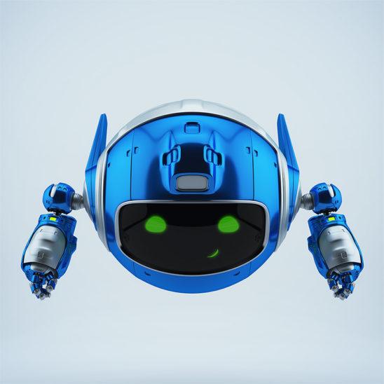 Flying PR robotic toy