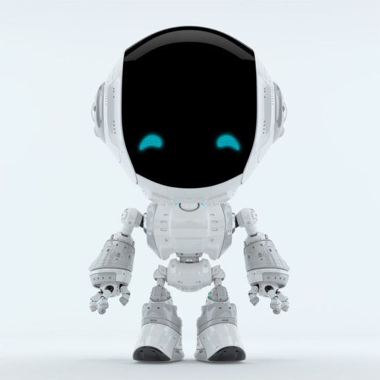 Cute gray fun bot