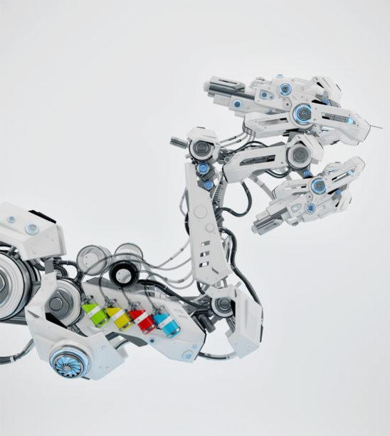 Futuristic automated tattoo machine