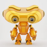 Lovely look-see robotic toy with head down