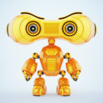 smart look-see robot with eyes binoculars