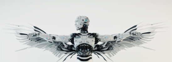 Icarus robot with steel wings