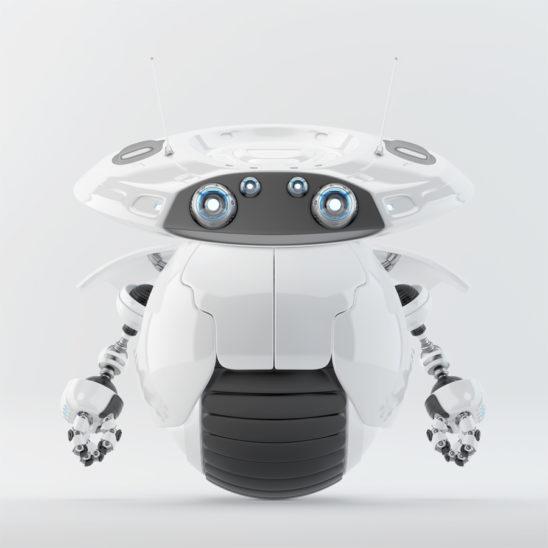 Roller bot on one big wheel