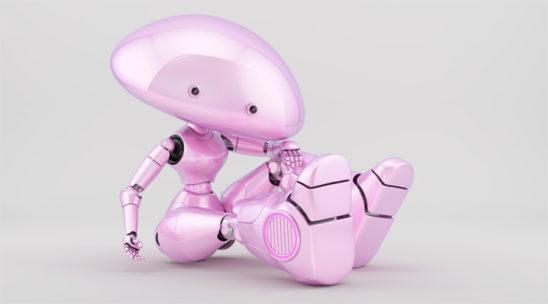 Pink mushroom lady reclining