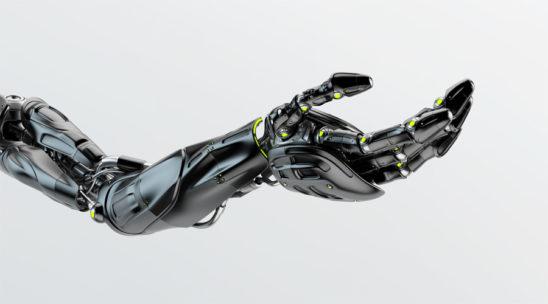 Black prosthetic robo arm