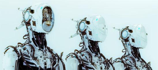 Three modifications of robot pilot. 3d render