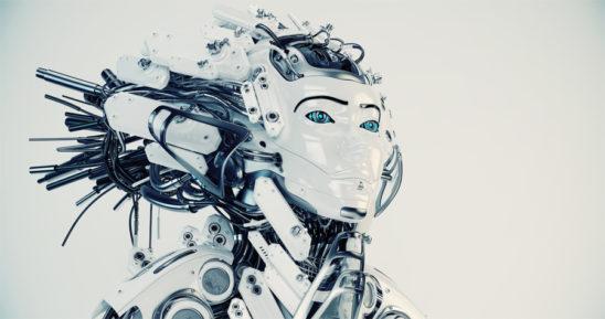 The majestic Queen geisha robot with modern dreadlocks in side render