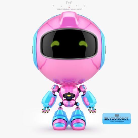 Girlish pink cutan toy 3d model