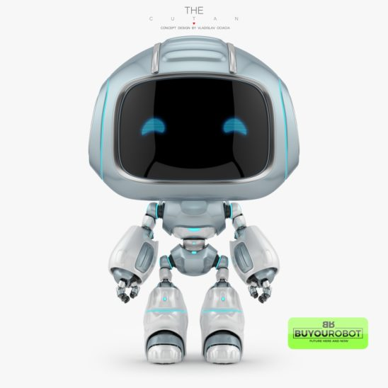 Cute robotic toy with lovely signal horns at the back - CUTAN 3d model