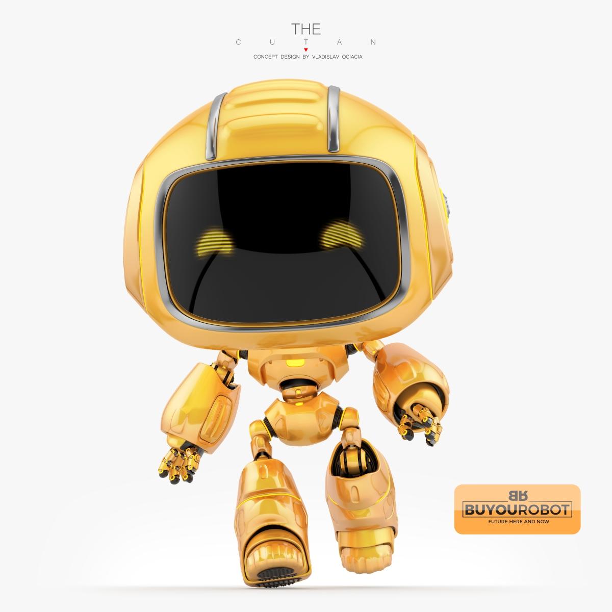 cute robotic character 3d model