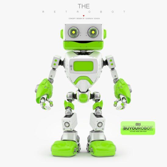 retro robot 3d model