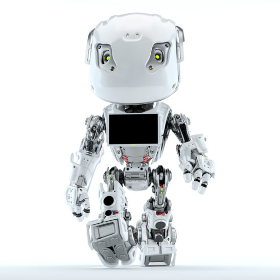 Bbot walking robot with monitor screen on chest
