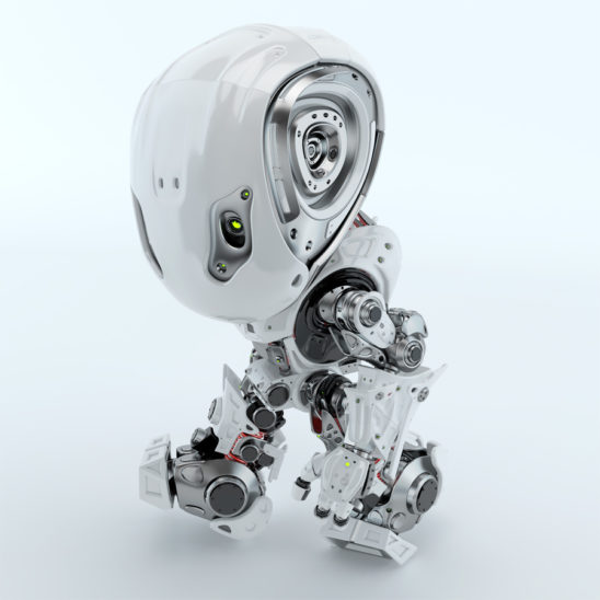Walking bbot in top side angle