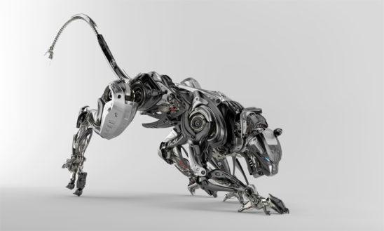 Steel robotic jaguar