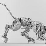 Artificial silver puma robot