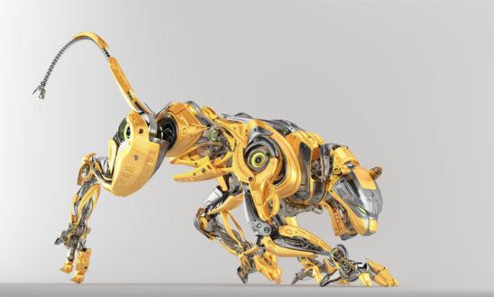 Fashionable robotic panther