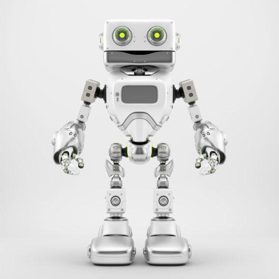 Silver retro robotic toy