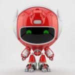 Juicy red unusual robot pr manager