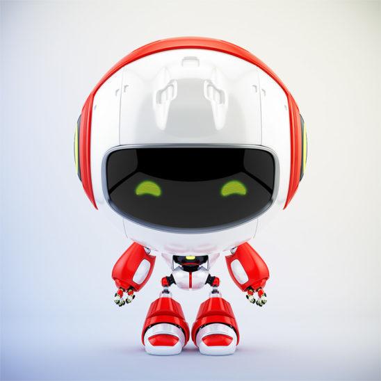 Pr robot cute toy in front 3d render